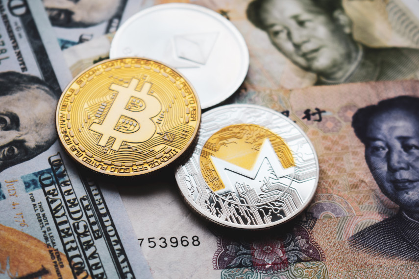 digital currencies with yuan and dollar